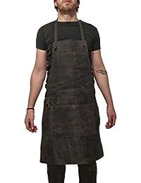 Delantal de cuero profesional para chef, carnicero, metalúrgico, carpintero, tatuador - Tirel