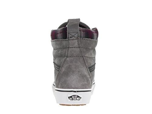 Vans Sk8-Hi Mte, Sneakers Hautes Mixte Adulte Pewter/Plaid