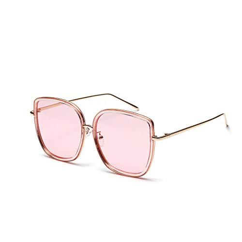 Drreny Große Quadratische Sonnenbrille Retro Transparentes Ozean-Farben-Acryllinsen-Transparentes Puder