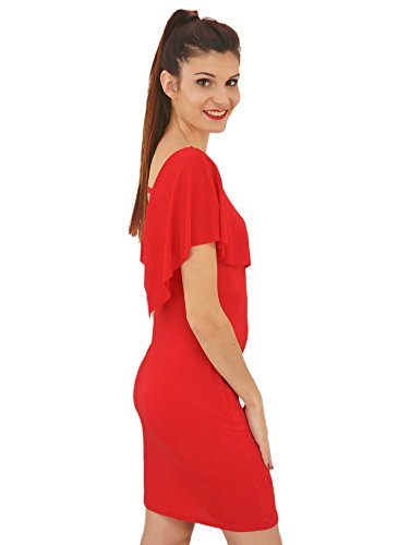 Robe à Volant Glitter Scintillante Rouge Rouge