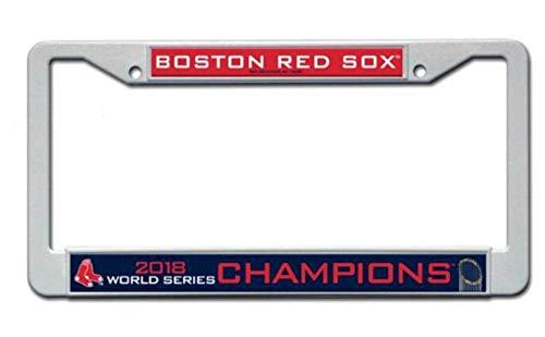 Rico Industries Inc. Boston Red Sox 2018 World Series Champions Kunststoffrahmen Nummernschild Cover Baseball