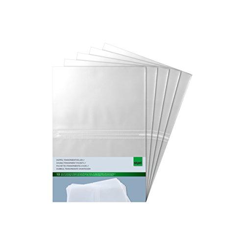 Sigel SM181/5 Doppel-Transparenthüllen für A5, 5-er Pack, 10 Stück