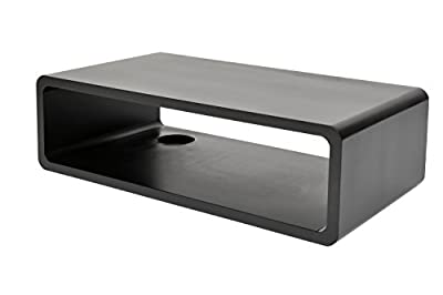HiFi lounge audio shelf board wall Halter retro CD DVD media shelf in Black - low-cost UK light store.