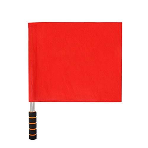 Vektenxi Fußball Fußballtraining Linienrichter Schiedsrichter Flagge Set Edelstahl Pole Schaum Griff langlebig und nützlich -