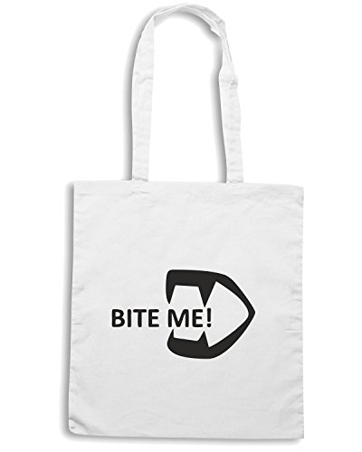 T-Shirtshock - Borsa Shopping TDM00034 bite me Bianco