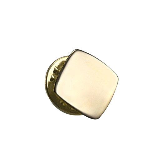 Sayers London 9 Karat (375) Gelbgold Klassisch Viereckig Krawattennadel