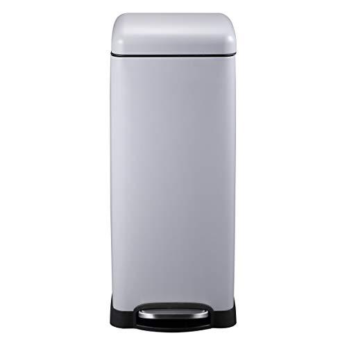 Mari Home Contenedor de Reciclaje | Cubo Basura 30L con Tapa Domo | para Dormitorio, Baño, Cocina...