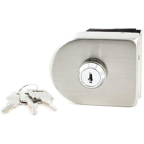Hogar tono Plata llave de bloqueo de 13 mm con bisagras de cristal Puerta de gabinete