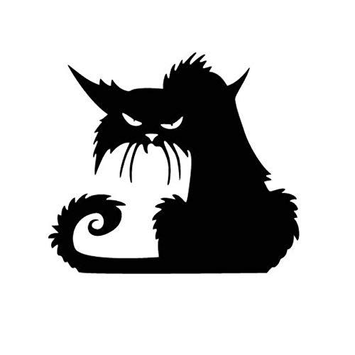 ufkleber Cartoon Schwarze Katze Form Glas Aufkleber Bar Party Geist Haus Dekoration Gags Witz Heikles Spielzeug Aufkleber 13cm ()
