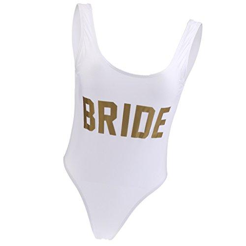 MagiDeal Traje de Una Pieza para Nadar de Mujeres Bikini Traje de Baño Monokini Impreso con Bride Color...