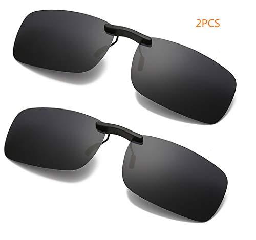DAUCO Sonnenbrille Aufsatz, polarisierte Überbrille Sonnenbrille für Brillenträger Überzieh-Sonnenbrille, UV Schutz Gläser,Fahren/Fischerei/Sport/Night Vision Eyewear [2 Sätze]