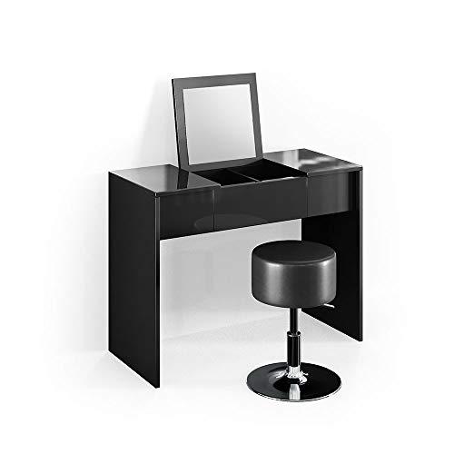 Schwarz Holz Kommode Make Up Schreibtisch Kosmetiktisch