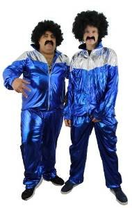 SHELL SUIT KOSTÜME FANCY DRESS 80'S - ZUHÄLTER/RAVER -