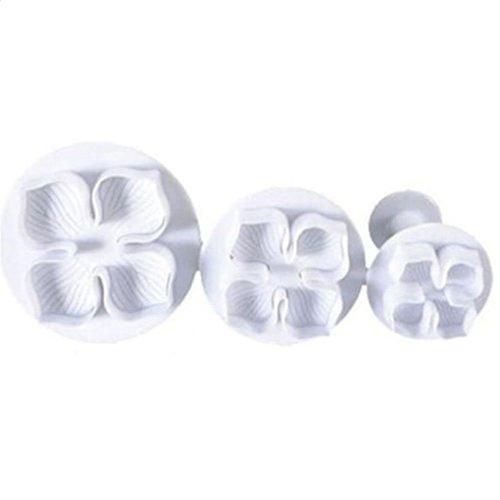 Busirde 3pcs Hydrangea Fondant-Kuchen, Zuckerfertigkeit Plunger Cutter-Blumen-Form-DIY Kuchen-Form-Werkzeug