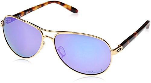 Oakley Damen Sonnenbrille Feedback Polished Gold