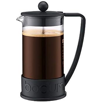 Bodum - 10938-01 - Brazil - Cafetière à Piston 8 Tasses - 1,0 L - Noir