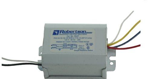 Robertson 3p10084SS2p Bin fluoreszierend mballast für 1F20T12, f15t12, f14t12oder f15t8, f14t8Linear Lampe, Heizen selbst Start, 120VAC, 60Hz, normal Vorschaltgerät Factor, NPF -