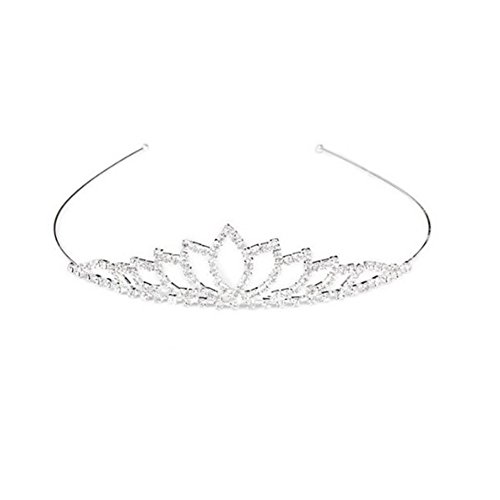 Binlunnu cerimonia nuziale brillanti strass Decor capelli Crown tiara copricapo fascia
