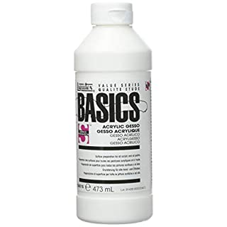 Liquitex BASICS Gesso Surface Prep Medium, 473 ml