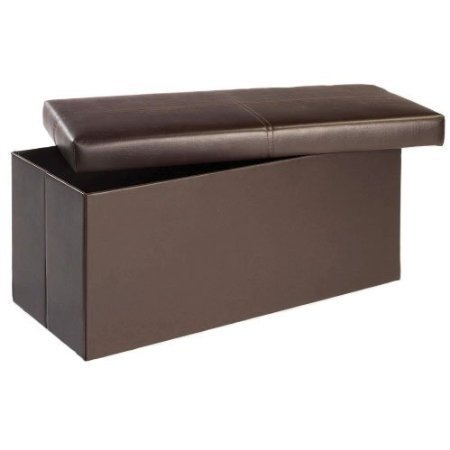 2-seater-double-large-folding-storage-faux-leather-ottoman-pouffe-seat-stool-box-brown
