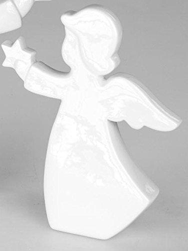 formano Engelsfigur mit Stern,Dekoengel, Weihnachtsengel, mit Stern, in weiß, Keramik, 31 cm