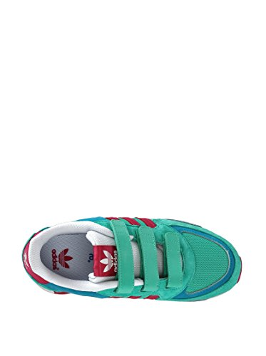 Adidas - Adidas ZX 850 CF K Scarpe Verde Acqua Pelle Tela Strappi M18021 Verde