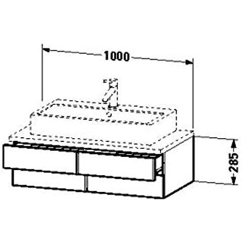 Duravit lavabo debajo del gabinete para consola Vero 518 x 1000 x 285 mm 2 cajones, madera de nogal de cepillado, VE657206969