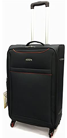 Lightweight Expandable Extra Durable Hold Luggage Suitcase Travel Trolley Case Travel Bag 4 Wheels Spinner in Extra Large(32