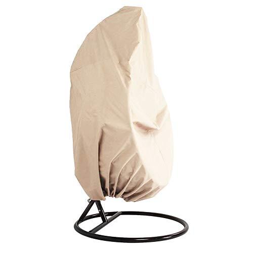 ZAK168 Housse de Chaise Suspendue Anti-poussière, auvent de balançoire, Tissu Oxford imperméable à l'eau, Housse de Protection Contre la poussière - Veranda Patio Cocoon, Beige, Taille Unique