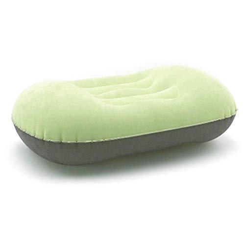 ZHAOJCQC Aufblasbares Kissen PVC Schlafkissen Sommerstrandkissenschutz Luftpumpe für Tragbare Reisen Im Freien (Farbe : Green)
