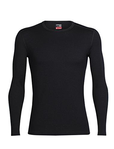 Icebreaker Herren Tech Top Long Sleeve Crewe Funktionsshirt, Black, XL (Sleeve Winter Long Top)