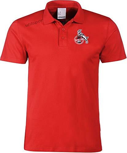 uhlsport Fußball FCK 1. FC Köln Essential Polo Shirt Fanshirt Herren rot Gr XL