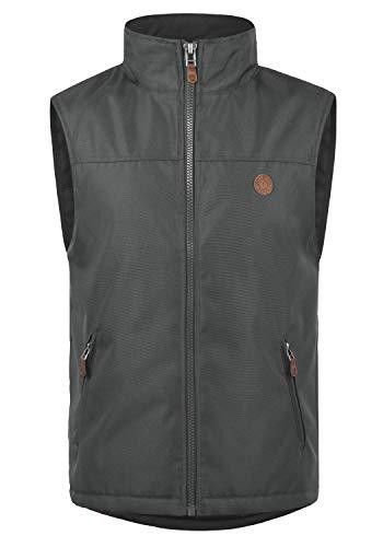 !Solid Oxfo Herren Weste Outdoor-Weste Mit Stehkragen, Größe:XXL, Farbe:Forged Iron (2820)