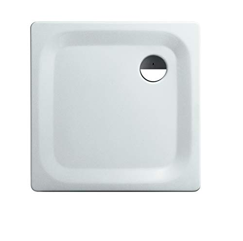 Calmwaters® - Föhr - Kleine Bodengleiche Dusche in 80 x 80 x 2,5 cm mit 90 mm Abfluss aus Stahl-Emaille - 01XP2223