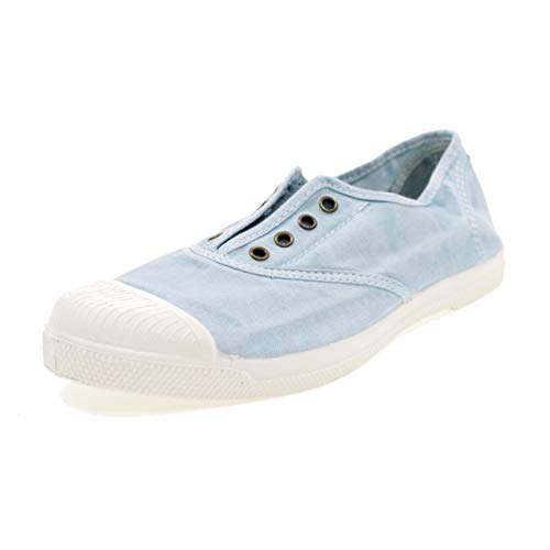 Natural World 102E 672 Tennis Cotone Eco Tela Azzurro Lago Vegan 38 Blu