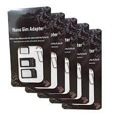 DZYDZR 5 PCS 4 in 1 Sim Karten Adapter Set (Nano, Micro, Standard, Eject Pin) Sim Adapter für Handy, Smartphone und Tablet