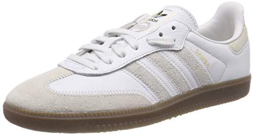adidas Samba OG Ft, Zapatillas de Gimnasia para Hombre, Blanco Crystal Raw White/Gold Met, 40 2/3 EU