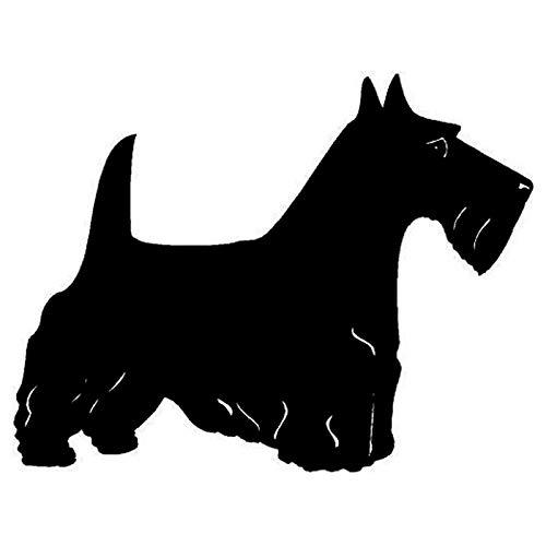 14,7 * 11,3 cm Terrier Klassische Cartoon Hund Auto Aufkleber Mode Auto Kratzer Dekoration Zubehör 5 stücke