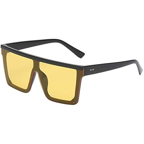 fazry Damen Herren Mode Persönlichkeit Platz Form Rahmen Sonnenbrille Vintage Punk Style Brille(D)