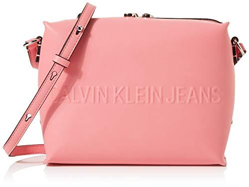 Calvin Klein Damen Box Camera Bag Laptop Tasche, (Pop Pink), 11x17.5x23 cm (Geldbörse Damen Laptop-tasche)
