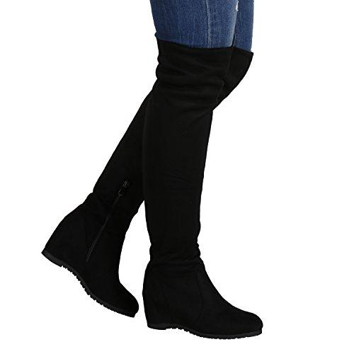 Stiefelparadies , Bottes classiques femme Noir - Noir