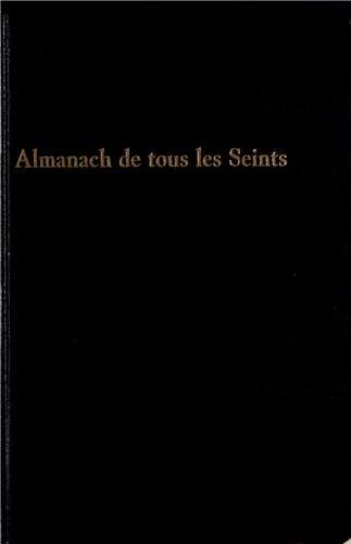 Almanach de tous les seints : Almanach perpétuel