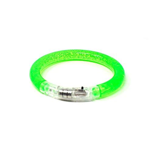 1 Grün LED-Blasen-Armband-Glühen Belichtete Pulsierende Bunte Leuchten Party-Schlag-blinkendes Armband-Armband das Für Tänze Wiederverwendbar Ist Ereignis-Partys Raves Kids Adult Oder Dark Safety