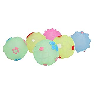 AB Tools 6Pk Small Pastel Balls - Perfect Dog Toy For Puppies or Small Dogs (3cm/1.5