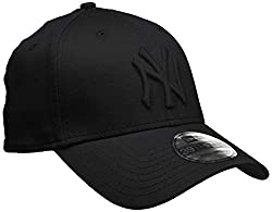 New Era Herren Baseball Cap Mütze M/LB Basic NY Yankees 39Thirty Stretch Back, Black/ Black, S/M, 10145637