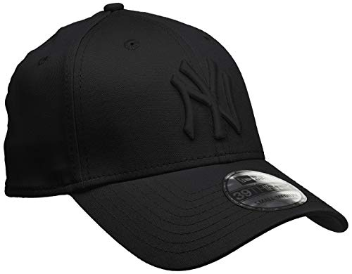 New Era Herren Baseball Cap Mütze M/LB Basic NY Yankees 39Thirty Stretch Back, Black/ Black, S/M, 10145637