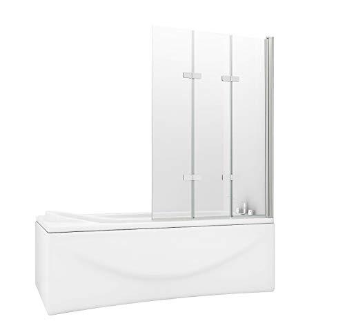 HNNHOMER 180° Pivot - Pantalla para bañera o ducha (cristal de 6 mm)