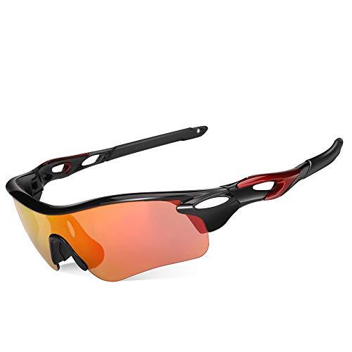 FEIXIANG Polarisierte Fahrradbrille Radbrille Sonnenbrille Sportbrille für Herren und Damen, mit UV400 Schutz zum Radfahren Klettern Sports Fahren