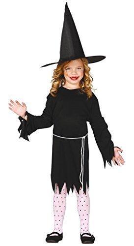 Mädchen Schwarz Hexe Gothik Salem Halloween Kostüm Kleid Outfit 5-12 jahre - Schwarz, 7-9 - Salem-hexe-halloween-kostüm