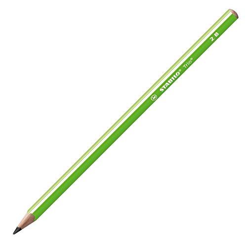 Stabilo trio matita in grafite 2b verde - confezione da 12
